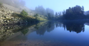 Estagnet lake in the Pyrenees Royalty Free Stock Image