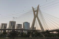 Estaiada桥梁,圣保罗, SP,巴西 图库摄影