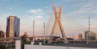 Estaiada Bridge Sao Paulo Stock Photo