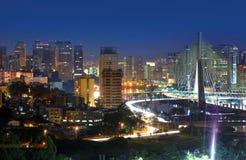Estaiada Bridge - Sao Paulo Stock Images