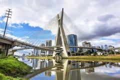 Estaiada Bridge in Sao Paulo, Brazil Stock Photos