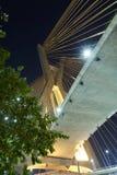 Estaiada Bridge Sao Paulo. Night Brazil royalty free stock image