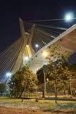 Estaiada Bridge Sao Paulo. Night  Brazil Stock Image
