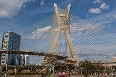 Estaiada Bridge Sao Paulo Sunset Royalty Free Stock Image