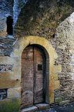 Estaing. Doorway in Estaing, town in Southern France Royalty Free Stock Images