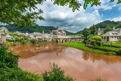 Estaing Village Royalty Free Stock Photography