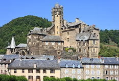 Estaing village in Southern France, landscape view Stock Photography