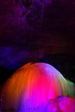 Estalactitas coloridas Foto de archivo libre de regalías