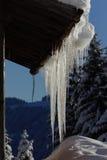 Estalactitas del hielo Imagen de archivo libre de regalías