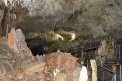 Estalactite da opinião da caverna, especial fotografia de stock