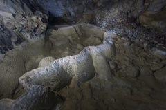 Estalagmites da caverna Fotos de Stock