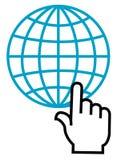 Estale sobre o glob ilustração stock