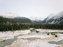 Estaleiro congelado de Alaska foto de stock royalty free