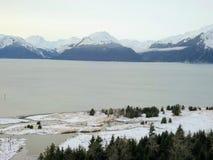 Estaleiro congelado de Alaska imagem de stock royalty free