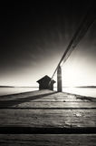 Estaleiro de madeira velho foto de stock