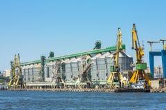 Estaleiro do porto de Constanta Fotos de Stock Royalty Free