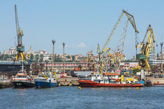 Estaleiro do porto de Constanta Fotografia de Stock Royalty Free