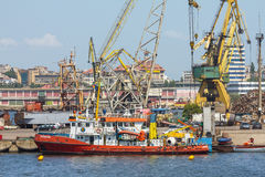 Estaleiro do porto de Constanta Imagens de Stock Royalty Free