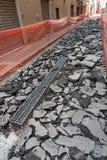 Estaleiro que reconstrói o pavimento Foto de Stock