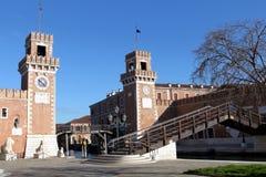 Estaleiro velho do arsenal Venetian em Veneza, It?lia imagem de stock royalty free