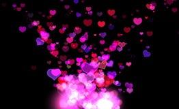Estallar corazones Foto de archivo libre de regalías