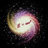 Estallar la estrella y la teoría de la relatividad Imagen de archivo libre de regalías