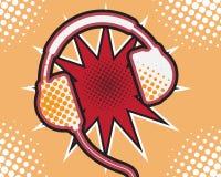 Estallido Art Comic Book del auricular Foto de archivo libre de regalías
