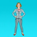 Estallido Art Confident Successful Business Woman Foto de archivo