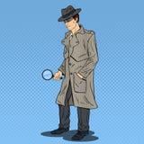 Estallido Art Detective Searching con la lupa Imagenes de archivo