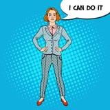 Estallido Art Elegant Successful Business Woman Fotos de archivo