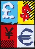 Estallido Art Money Imagen de archivo libre de regalías