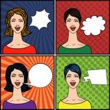Estallido Art Style Comics Women Fotos de archivo