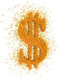 Estallido de la muestra de dólar Foto de archivo libre de regalías