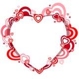 Estallido de los corazones Foto de archivo libre de regalías