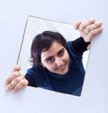 Estallido del adolescente del rectángulo Imagen de archivo libre de regalías
