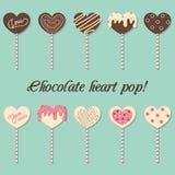 Estallido del corazón del chocolate Fotos de archivo