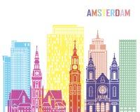 Estallido del horizonte Amsterdam_V2 Imagen de archivo libre de regalías