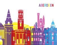 Estallido del horizonte de Aberdeen Ilustración del Vector