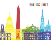 Estallido del horizonte de Buenos Aires ilustración del vector