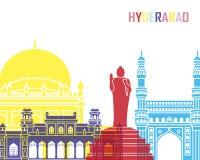 Estallido del horizonte de Hyderabad ilustración del vector