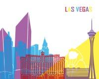 Estallido del horizonte de Las Vegas stock de ilustración