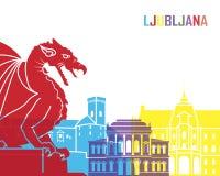 Estallido del horizonte de Ljubljana libre illustration