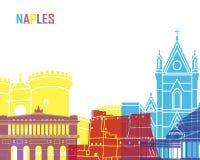 Estallido del horizonte de Nápoles ilustración del vector