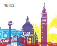 Estallido del horizonte de Venecia ilustración del vector