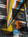 Estallido urbano del arco iris del edificio