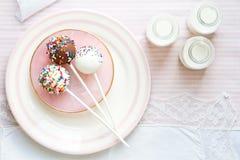 Estallidos de la torta Imagen de archivo libre de regalías