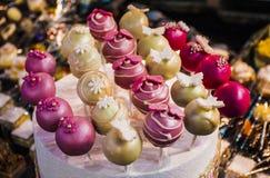 Estallidos de la torta Foto de archivo libre de regalías