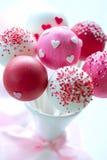 Estallidos de la torta de la tarjeta del día de San Valentín Fotografía de archivo