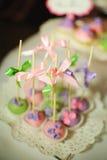 Estallidos de la torta del postre de la boda Fotografía de archivo libre de regalías