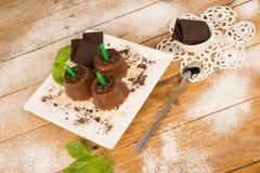Estallidos del chocolate foto de archivo